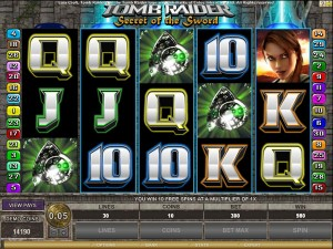 Tombraider microgaming videoslot